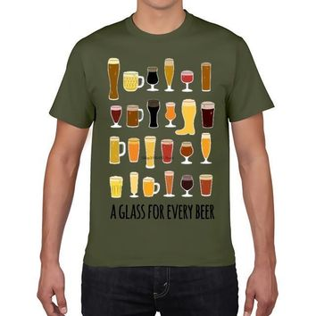 A Glass For Every Beer - Drinking Unisex T-shirt