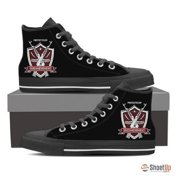 Protected By 2nd Amendment-Women's Canvas Shoes-Free Shipping