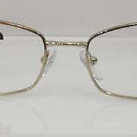 NEW AUTHENTIC PRADA VPR 59N COL 2AU-1O1 GOLD W/TORTOISE METAL EYEGLASSES FRAME