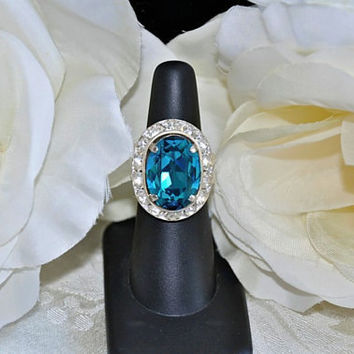 FALLON swarovski crystal INDICOLITE filigree by cynthiacouture