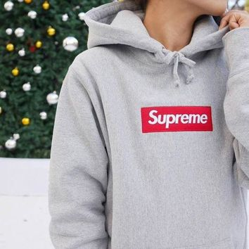 """Supreme"" Casual Letter Print Long Sleeve Hoodie Pullover Sweatshirt Top Sweater"