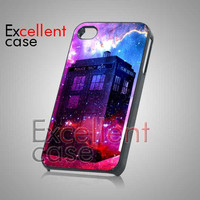Tardis Dr Who Box Galaxy - iPhone 4/4s/5 Case - Samsung Galaxy S2/S3/S4 Case - Black or White