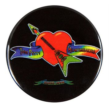 DCCKU3R Tom Petty - Heart Logo - Button