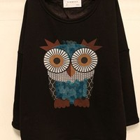Sequins owl loose sweater from Fashion Accessories Store