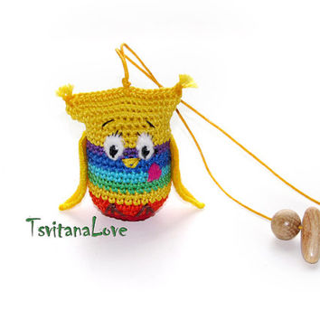 Baby toy Rattle - owl - First toy for your baby - Breastfeeding / teether Baby Teething Toy