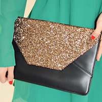 Dancing Days Clutch: Black/Gold | Hope's