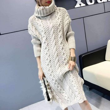 MY MALL METRO  Women Turtleneck Long Knitted Sweater  Check Homepage for Promo Codes! <