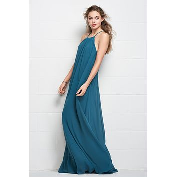 Wtoo 506 Floor Length High-Neck Chiffon Bridesmaid Dress