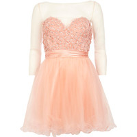 River Island Womens Coral Forever Unique embellished prom dress