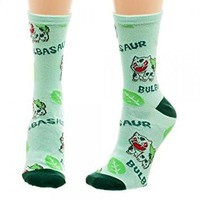 Pokémon Bulbasaur Crew Socks