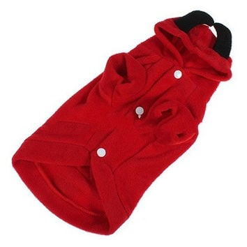 Pet Puppy Dog Cute Devil Clothes Hoodie Fancy Dress Costumes Apparel Coat Outfit HT = 1932321988