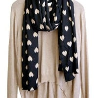 Love Is More Than a Fuzzy Feeling Scarf, Black
