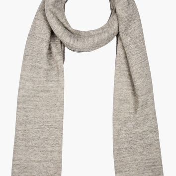 Rag And Bone Heather Grey Cotton Harcourt Scarf