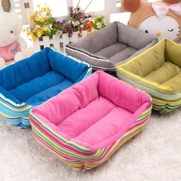 Dog House New Pets Beds Fashion Soft Puppy Dog House High Quality PP Cotton Pet Beds For Small Pets Products Cats