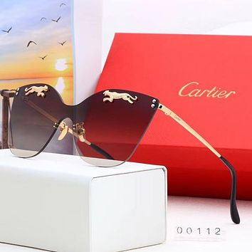 Cartier Woman Men Fashion Summer Sun Shades Eyeglasses Glasses Sunglasses