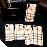 Burberry Tide brand iPhoneXSMax mobile phone shell hard shell protective cover