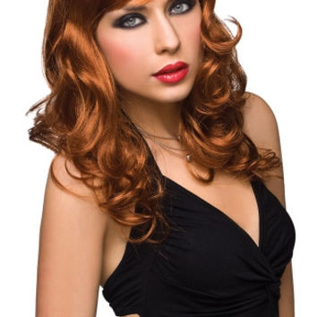 Curly Long Haired Red Wig