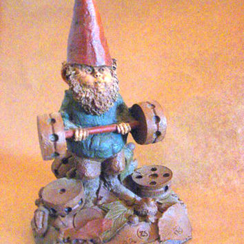 30% off  - Bubba, the weight lifter (a vintage Tom Clark gnome) uses tinker toys for weights.