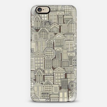 windows umber brown iPhone 6s case by Sharon Turner | Casetify