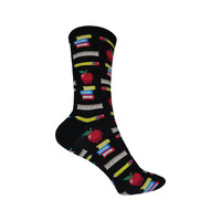 Teacher's Pet Crew Socks in Black