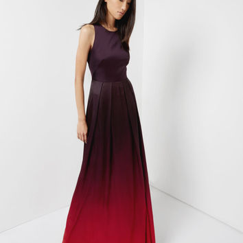 Open back maxi dress - Dark Red | Dresses | Ted Baker