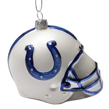 Indianapolis Colts - Glass Helmet Ornament