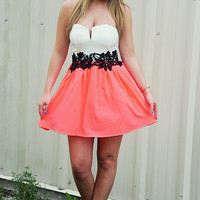 Come To Believe Dress: Neon Coral