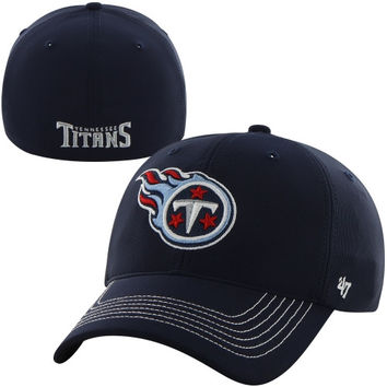 Tennessee Titans '47 Brand Game Time Closer Flex Hat – Navy Blue