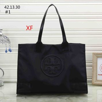 Tory Burch 2018 new women's waterproof bag shopping bag tote bag shoulder bag