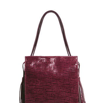 My Sidekick Satchel in Retro Cranberry Croco
