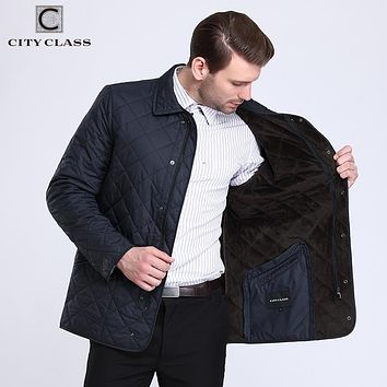 New Men Quilted Jacket Fleece Hombre Business Causal Fashion Coats For Male