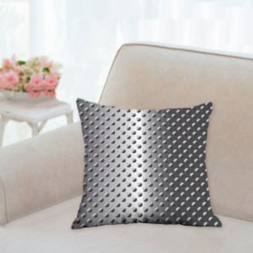 Metal look Pillow, Decorative pillow, Throw Pillows, Floor Pillow, Man Cave Pillow, Kids Room Pillows, Modern Pillow, Gift for him or her