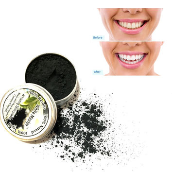 2017 Pure Coco Tooth Powder Whitening Black Activated Charcoal Teeth Whitening Remove Smoke Tea Coffee Yellow Stains