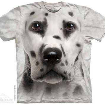 woman's or men's t-shirt, dog, stonewashed, dalmatian face size medium, brand new 100% preshrunk cotton