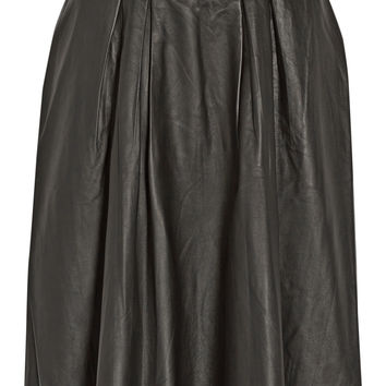 By Malene Birger - Lollu pleated leather skirt