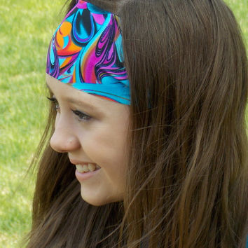 Funky Colorful Spandex Headband