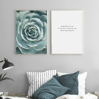 900D Posters And Prints Wall Art Canvas Painting Wall Pictures For Living Room Nordic Succulent Decoration NOR008