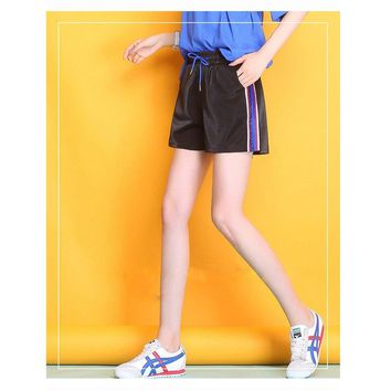 Leisure sports Shorts summer loose looks slimmer Bright breeches comfortable soft cool Four colors Beach Yoga shorts