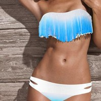 Sexy gradient fringed bikini by Summershopping on Zibbet