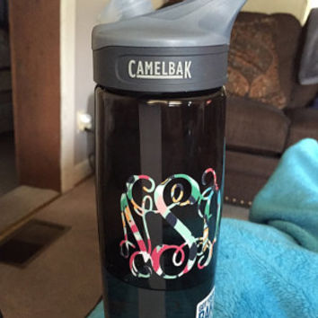 Pattern Monogrammed Camelbak Water Bottle Lilly Inspired