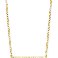 Kaleidoscope Crystal Bar Pendant Necklace in 18k Gold over Sterling Silver
