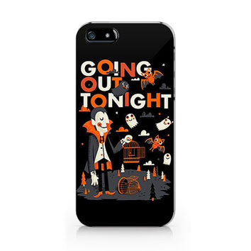 N-531 Halloween going out tonight design unique for iPhone 4/5/5C/6 case, Samsung galaxy S4/S5/Note3 case