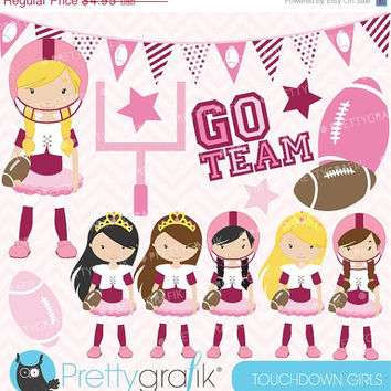 60% OFF football and tutus clipart commercial use, vector graphics, digital clip art, digital images - CL578