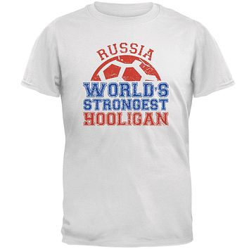 World Cup World's Strongest Hooligan Russia Mens T Shirt