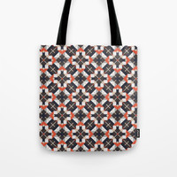 Checkered pattern Tote Bag by g-man