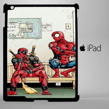 Funny Spiderman and Deadpool iPad 2, iPad 3, iPad 4, iPad Mini and iPad Air Cases - iPad