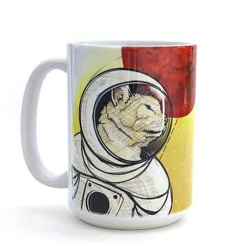 Curiosity Space Cat 15 Oz. Coffee Mug