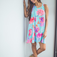 Bold Shift Dress in Mint