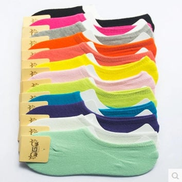 Summer Cotton Socks Ladies Korean Transparent Silicone Brush [8362386695]