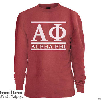 Alpha Phi Custom Comfort Colors Classic Sorority Sweatshirt